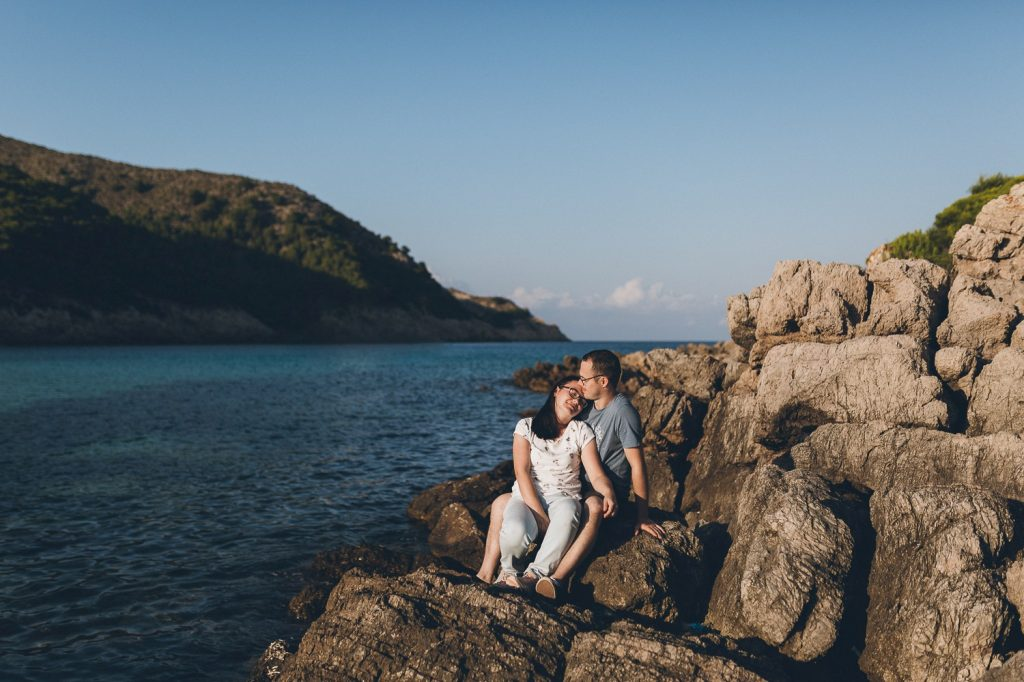 Engagement-Shooting am Strand in Mallorca