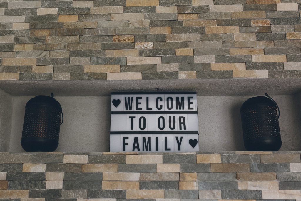 Welcome to our Family - Wandbild